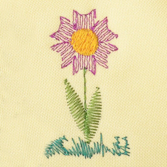 Matriz de bordado flor 253