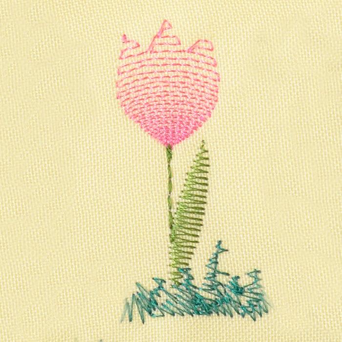 Matriz de bordado flor 255