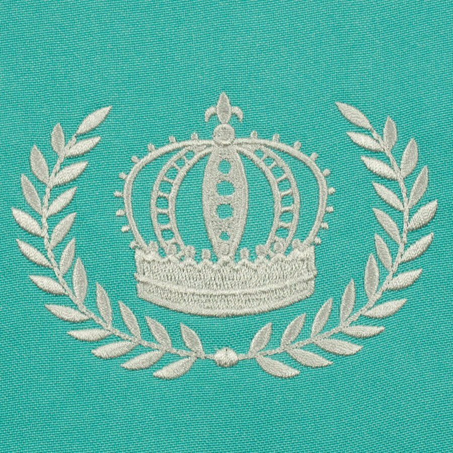 Matriz de bordado moldura coroa 2