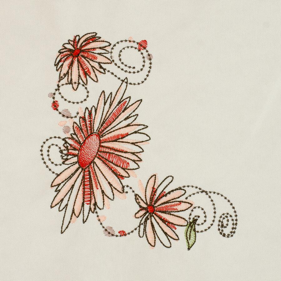 Matriz de bordado floral 526