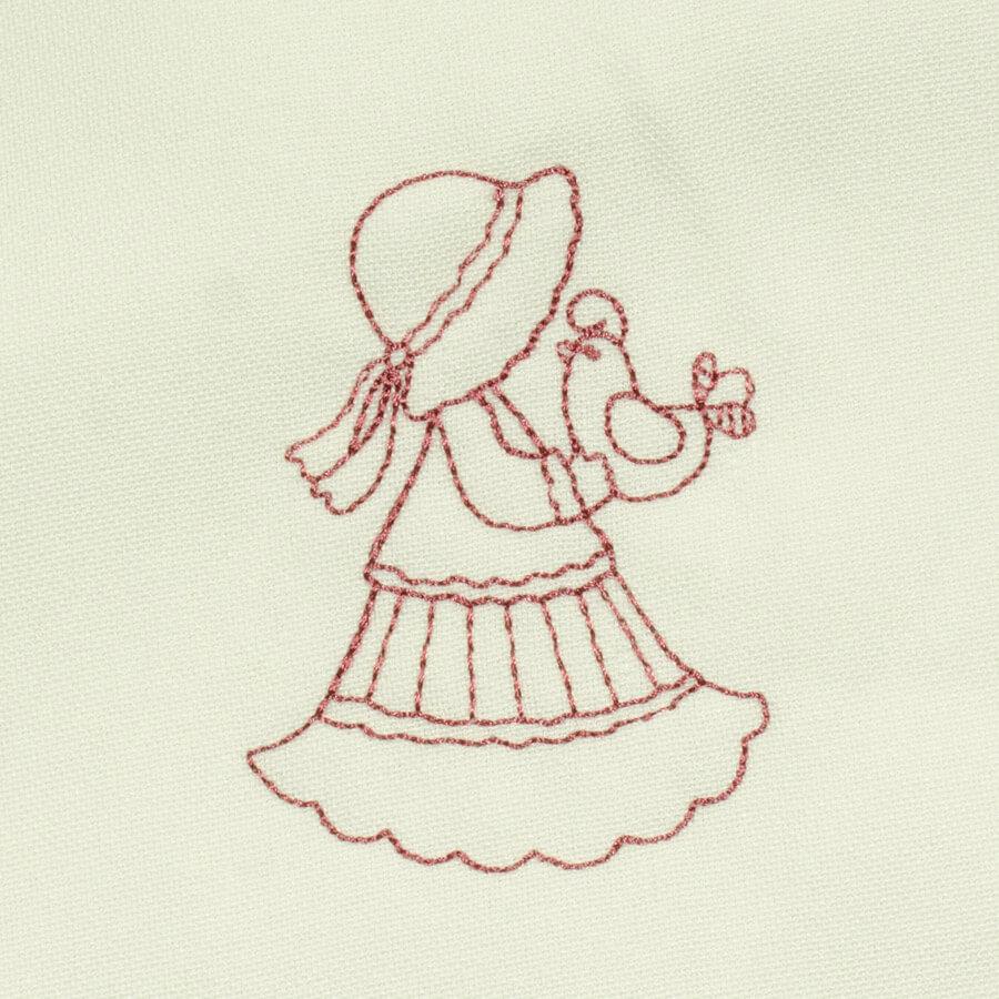 Matriz de bordado garotinha redwork 19