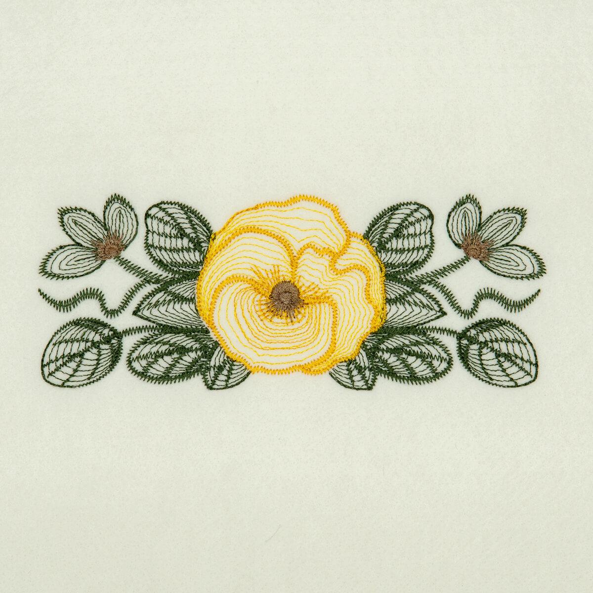Matriz de bordado floral rippled 11