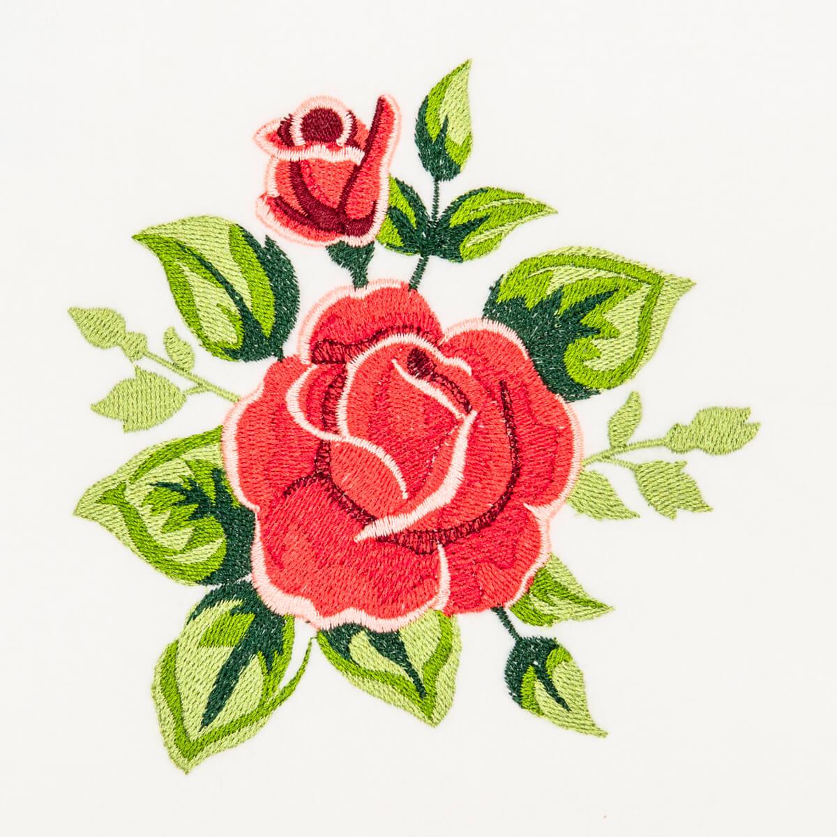 Matriz de bordado Rosa 14