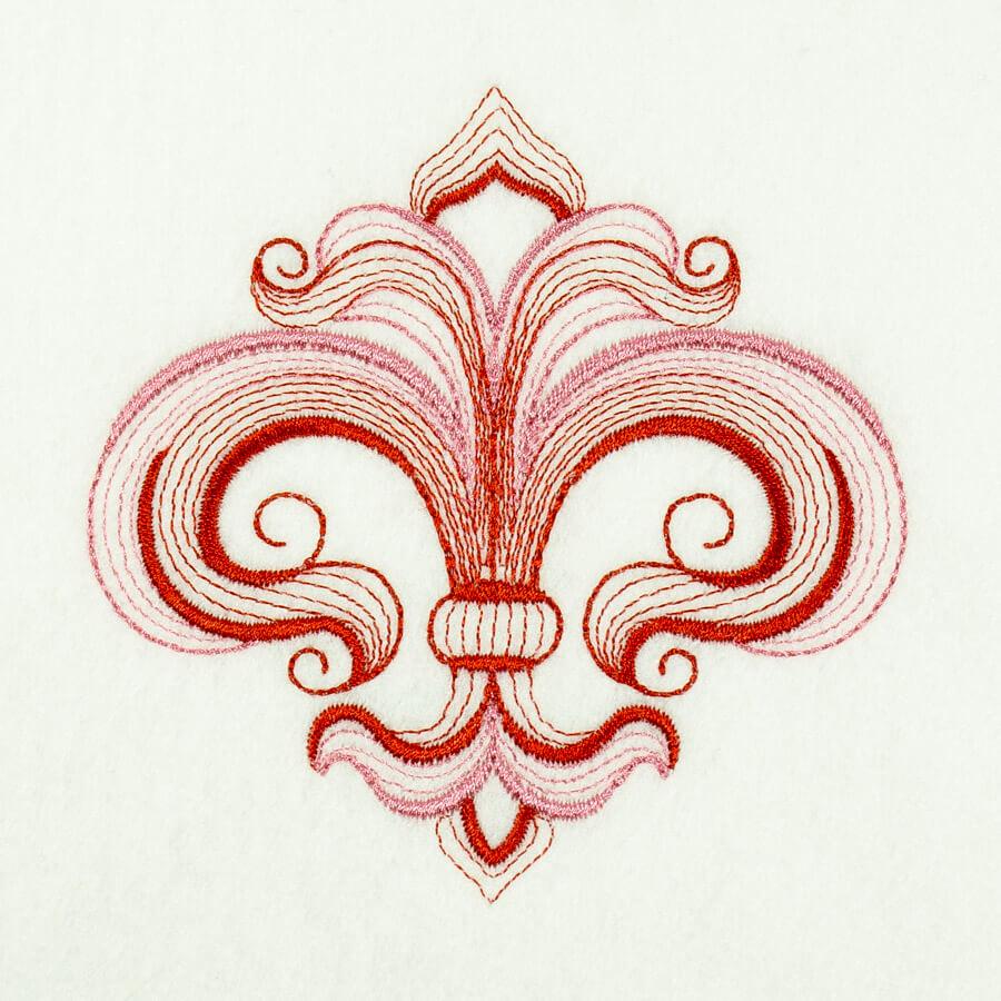 Matriz de bordado Flor de lis 7