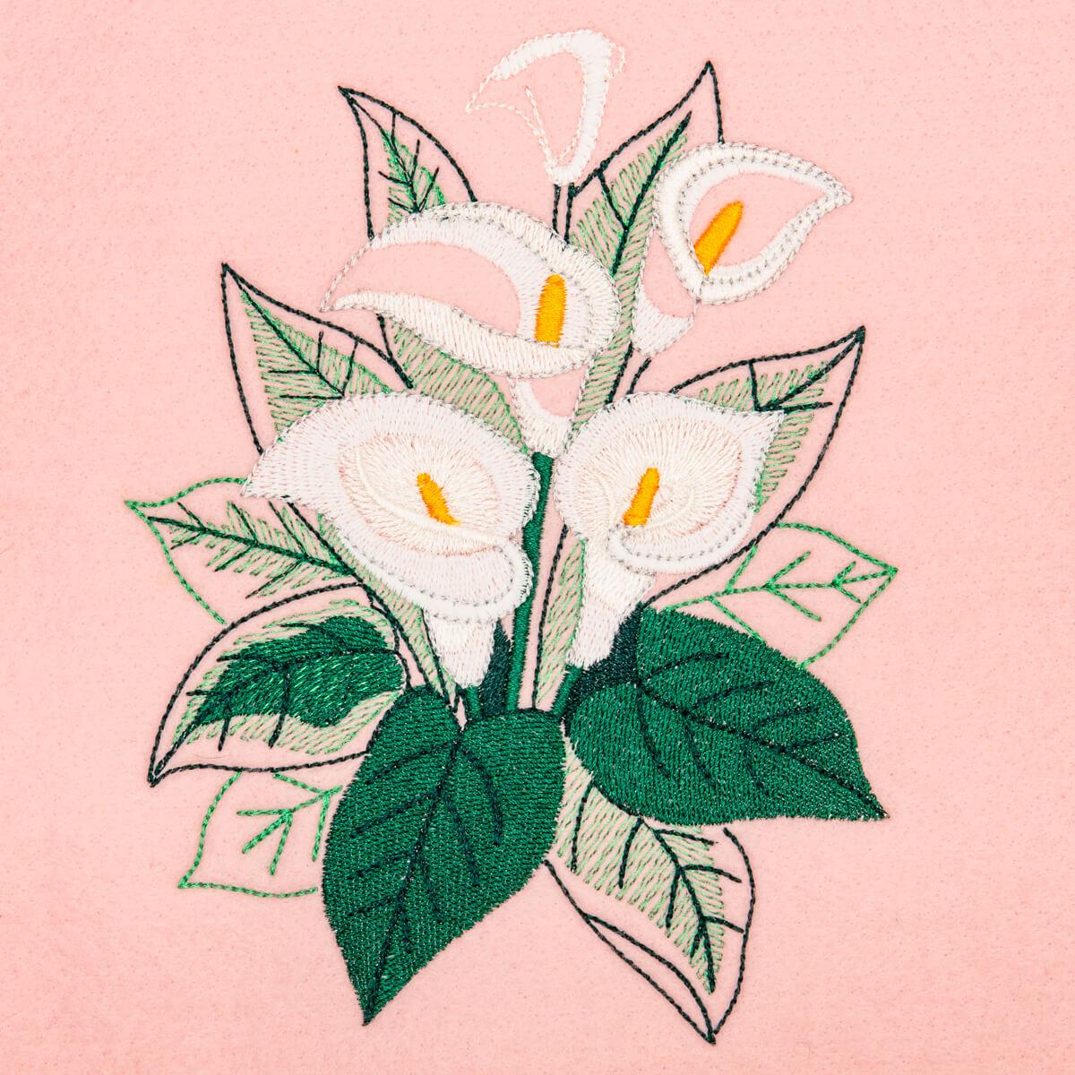 Matriz de bordado floral 547